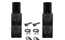 P.A. amplificado Ibiza 6.200W - 4 Subgraves + 2 Tops + Cabos