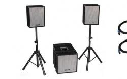 P.A. amplificado Ibiza Cube 1208 - 1.400-2.800W - Subgrave + 2 Tops + 2 Tripes + Cabos