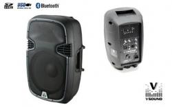 Coluna amplificada VSound VSSE12BT - 400-800W - 12 polegadas - USB + MP3 + SD Cards + Bluetooth