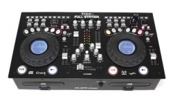 Leitor duplo + Mesa Ibiza Full-Station - 2 CD + 2 USB + MP3 + SD Cards - preto ou branco