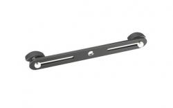 Barra adaptadora para segurar 2 Pincas de Micro no Tripe - Stereo Bar