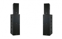 P.A. amplificado Dap Audio Club Mate III Active System - 4 Subgraves + 2 Tops - 3.600-7.200W