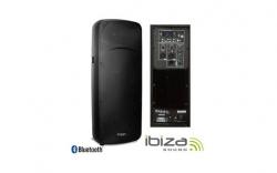 Coluna amplificada Ibiza DB215A-BT - 800W - 2x15 polegadas - USB + MP3 + SD Cards + Bluetooth - vertical
