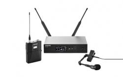 Micro sem fio + Receptor Shure QLXD14-E/98H - H51/P51/S50 - UHF - de clip e flexivel