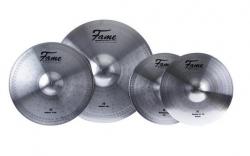 Pack de 4 Pratos Fame Reflex Set - 2 de Choque + 1 Crash + 1 Ride