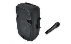 Coluna amplificada Ibiza QMS15A - 300-900W - 15 polegadas - USB + SD Cards + Bluetooth + Micro