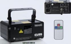 Laser LightmaXX Club 4.0 - 400mW - azul - DMX - comando a distancia