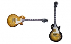 Guitarra Gibson Les Paul 60's Tribute 2016 HP - satin honeyburst dark back ou satin vintage sunburst