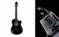 Guitarra Semi-Acustica Harley Benton CG200CE BK - 4/4 - nylon - preto