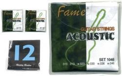 Jogo de Cordas Fame, Harley Benton ou C.Giant - bronze - Guitarra Acustica - 010/011/012