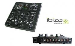 Mesa de Mistura Ibiza DJM200USB - 3 vias - USB + SD Cards + MP3 + Efeitos