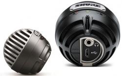 Microfone para Voz Shure MV5 - USB - condensador - cinzento