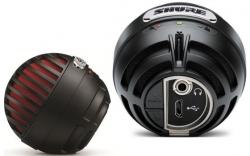 Microfone para Voz Shure MV5 - USB - condensador - vermelho