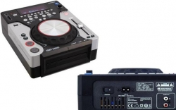 Leitor single Omnitronic XMT-1400 - CD-R/RW + USB + MP3 + SD Cards - com scratch