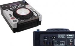 Leitor single Omnitronic XMT-1400 - CD-R/RW + USB + MP3 + SD Cards - com scratch