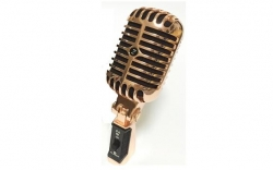 Microfone para Voz 3 C Elvis Microphone - cardioid/dinamico - prateado ou dourado vintage