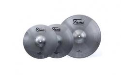Pack de 3 Pratos Fame Reflex Cymbal Set IV, Millenium ou Crash - 2 de Choque + 1 Crash/Ride