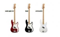 Baixo Fender Standard Precision Bass - 4 cordas - candy apple red, black ou artic white