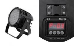 Foco de Leds PAR64 Eurolite LED IP - 48 Leds de 3W - RGBW - DMX/Auto - de chao (preto)