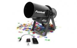 Canhao de Confettis Chauvet DJ Funfetti Shot - 1.430W - output 50m3 - capacidade 0,45Kg - DMX - comando a distancia