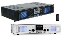 Amplificador SPL 1.000 - 1.000W - USB + MP3 + SD Cards + MMC + Radio + comando a distancia
