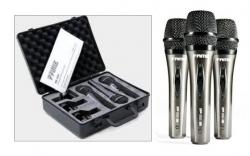 Set 12 - 3 Microfones para Voz Fame MS1800 MKII + 3 Pincas + Mala