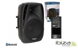 Coluna amplificada Ibiza BT12A - 450-800W - 12 polegadas - USB + MP3 + SD Cards + Bluetooth