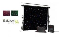 Cortina de Leds Ibiza Led-Curtain - 3x2m - RGBW - DMX/Auto/Som - em preto