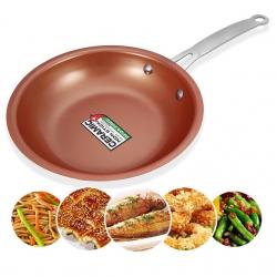 Frigideira anti-aderente Master Chef - cobre fundido/ceramica/aluminio (igual a Master Copper)