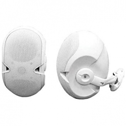 2 Colunas Electro-Voice Evid 6.2TW White - 300-600W - 2x6 polegadas - Linha 100V - branco