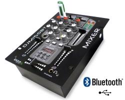 Mesa de Mistura Ibiza DJM150BT - 2-5 vias - USB + MP3 + Bluetooth