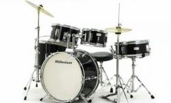Bateria Acustica completa Millenium MX Jr. Drumset + 3 Pratos - junior - para criancas