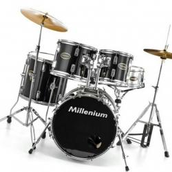 Bateria Acustica completa Millenium MX218BX Combo Set BK + 3 Pratos