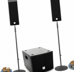 P.A. amplificado The Box Pro Achat Mini Bundle - 860-1.080W - Subgrave + 2 Tops + 2 Tripes + Cabos