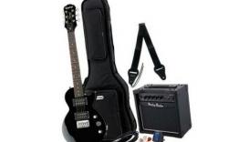Pack de Guitarra Epiphone Les Paul Express EB Bundle - Guitarra + Amplificador + Saco + Cabo + Alca + Afinador + Palhetas
