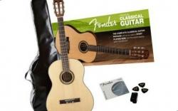 Pack de Guitarra Fender FC-100 Classical - Viola Classica + Saco + Afinador + Palhetas + Cordas