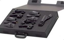 Pack de Microfones de Bateria T.Bone DC 1000 - 5 micros + 4 Clamps + 5 Pincas + Mala