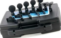 Pack de Microfones de Bateria T.Bone DC 1200 - 7 Micros + 5 Clamps + 7 Pincas + Mala