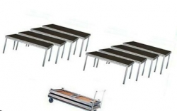 Pack de Palco Stairville Stage Table Bundle Outdoor - 8 Estruturas (2x1m) + 1 Carro