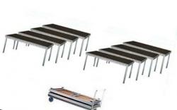 Pack de Palco Stairville Stage Table Bundle Outdoor - 8 Estruturas (2x1m) + 1 Carro