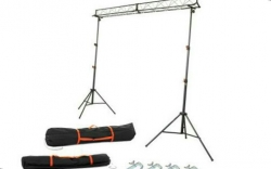 Sistema Truss Stairville LB-3 + 2 Tripes + 2 Sacos + 4 Clamps - 3m - sobe 3,10m - suporta 60Kg