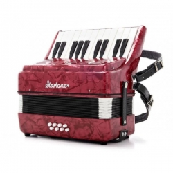 Acordeon Startone Puck Kids Accordion Red - de teclas - cor vinho - junior - para criancas