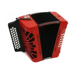 Acordeon Hohner Button-Accordion Compadre Red G/C/F ou F/Bb/Eb - de botoes - vermelho