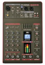 Mesa de Mistura Phonic Celeus 100 - 5 vias - Efeitos + USB + MP3 + Bluetooth + Equalizacao geral + Gravacao em Pen