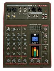 Mesa de Mistura Phonic Celeus 200 - 6 vias - Efeitos + USB + MP3 + Bluetooth + Equalizacao geral + Gravacao em Pen
