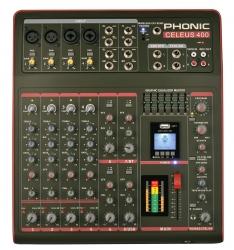 Mesa de Mistura Phonic Celeus 400 - 8 vias - Efeitos + 2 USB + MP3 + Bluetooth + Equalizacao geral + Gravacao em Pen
