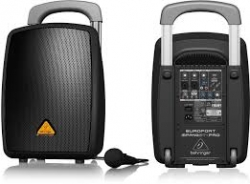 Coluna amplificada Behringer MPA40BT-PRO - 40-160W - 8 polegadas - Wireless + Bluetooth - a bateria/s