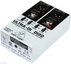 D.I.Box activa Behringer DI20 Ultra-DI - opera com phantom power ou baterias