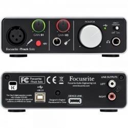 Interface de Audio Focusrite iTrack Solo Lightning - USB