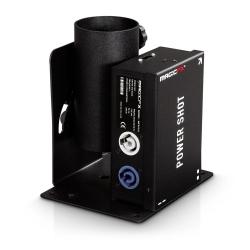 Maquina de Confettis MagicFX Power Shot - 100W - output 20m3 - recargas em tubo 28/40/50/80cm - DMX